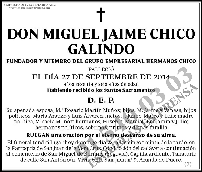 Miguel Jaime Chico Galindo